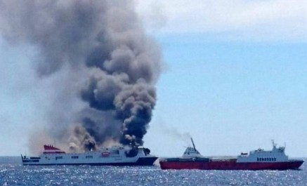 Transport maritime : un bateau transportant des algériens prend feu